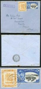 Brunei 1950 cover to Scotland 5c Airmail Rate