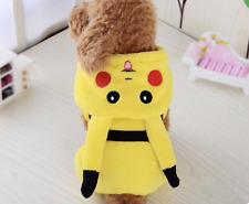 Dog/Puppy Pikachu Pokemon Cosplay Costume Fleece Jacket Coat  Cute Dog Cat