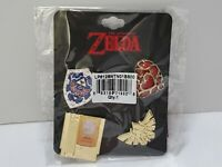 Legend of Zelda 4 Piece Pin Set Cartridge Hylian Shield Heart Piece Triforce