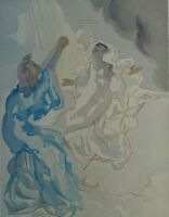 Dali Salvador: Paradise 5 (Beatrice) - Holz Graviert Original #Göttliche