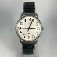 Timex Mens LA Cell Two Tone Bezel Bracelet White Round Dial Quartz Analog Watch