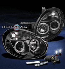 2003 2004 2005 DODGE NEON HALO LED BLACK PROJECTOR HEAD LIGHTS+DRL SIGNAL+6K HID