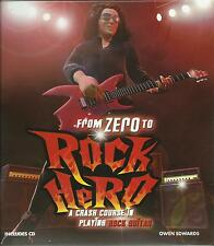 Learn to Play Rock Guitar Electric Acoustic Lessons Book and CD NEW FAST POST