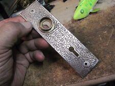 Victorian doorknob BACK PLATE door knob bronzed plated steel antique Eastlake