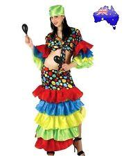 Adult Women Sexy Latin Rumba Dancer Carnival Flamenco Halloween Dress Costume