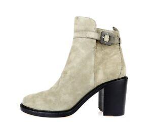 ELIZABETH & JAMES Stylish Gray Suede Ankle Boots Sz. 9.5 M NEW