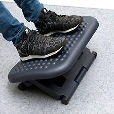 Foot Rest Under Desk Adjustable Height Office Ergonomic Portable Comfort Black