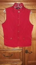 TALBOTS (Petites Medium) Quilted Equestrian-vibe Vest Red - Layering