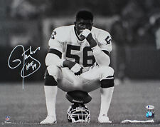 """Giants Lawrence Taylor """"HOF 99"""" Authentic Signed 16x20 B&W Photo BAS Witnessed"""