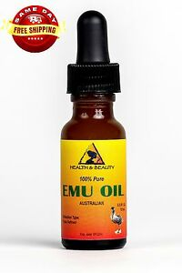 EMU OIL AUSTRALIAN ORGANIC TRIPLE REFINED 100% PURE 0.5 OZ with GLASS DROPPER
