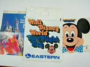 Vintage Walt Disney World Eastern Airlines Fun Flight Bag Book Cover Mask Mickey