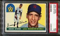 1955 Topps Baseball #60 DEAN STONE Washington Nationals PSA 7 NM