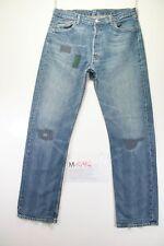 Levi's 501 Customized (Cod. M1494) tg50 W36 W34 jeans usato Vita Alta vintage