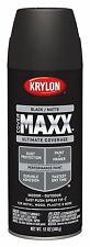 Krylon K09198000 COVERMAXX Spray Paint, Matte Black, 12 Ounce