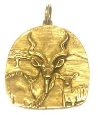 "Jeep Collins Brass Antelope Pendant 1 13/16"""