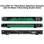 C2.0 31Bit 1U 7 Mod Music Spectrum Analyzer LED VU Meter 4 Recording Studio Home