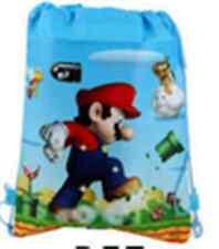 Lots Super Mario Mix Cartoon Boy's Drawstring Backpack School Bag Wholesale