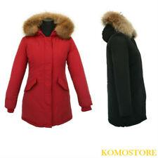PARKA DONNA giubbotto giaccone invernale con pelliccia vera 2 colori