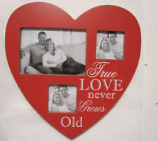 Love Red Heart Shape 3 PHOTO Collage Picture Photo Frame 3x5   2x3