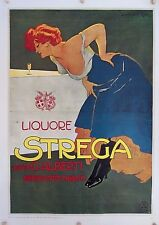 Vintage Liquore Strega Food & Drink Poster Made and Print in Italy Excellent Con