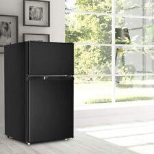 Kühlschrank mit Gerierfach 85 L Standkühlschrank Gefrierschrank Schwarz