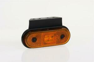 12/24V AMBER SIDE LED clearance marker light lamp with angle bracket and cabl...