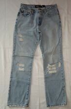 Women's distressed Low Rice Boot Cut 100% Cotton Size 7/8  by Express! Pre-owned