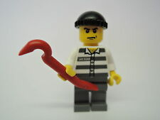 LEGO Figur City Polizei Verbrecher Dieb cty100 + Brechstange Set 7744