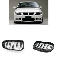 Black Front Kidney Grills Grille For BMW E90 E91 LCI 325i 328i 335i 4D 09-11 CHY
