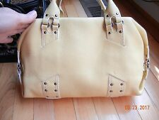 EXCELLENT CONDITION COLE HAAN Leather Satchel Handbag LIGHT YELLOW