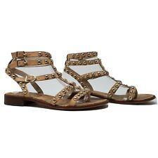Sam Edelman Eavan Beige Leather Gladiator Thong Sandals Flats Shoes US 7.5