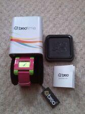 Deporte reloj de señoras de tiempo BREO En Color Rosa/Lima Verde Nuevo Con Etiquetas