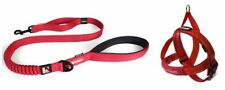 EZY-DOG ZERO SHOCK LEAD 48 INCH & QUICK FIT HARNESS  (Red)