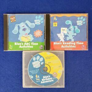 Lot of 3 Blue's Clues: Blue's Birthday Reading Time ABC PC Windows/Mac CD-ROM