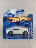 Hot Wheels - Aston Martin V8 Vantage White (2007 Short Card) - BOXED SHIPPING