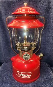 Red Coleman Single Mantle Lantern Model 200A dated 4/74 April 1974 - Restored!