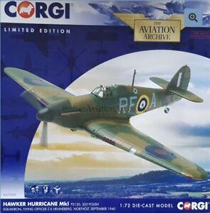 Corgi Aviation Hawker Hurricane MkI 303 Polish Squadron, Northolt AA27602 1:72