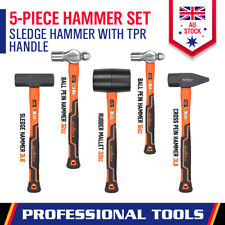 Rubber / Ball Pein / Sledge / Cross Pein Hammer Mallet TPR Handle Heavy Duty