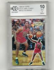ELTON BRAND 1999-00 TOPPS GOLD LABEL CLASS 1 RC BCCG GRADED 10 MINT OR BETTER