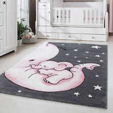 Kinderteppich,Kinderzimmerteppich,Elefant Figur,Rechteckig,PINK