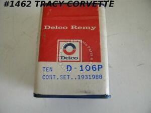 1962-1974 Corvette Contact Points Delco Remy D-106P GM# 1931988 10 Sets/Box  NOS