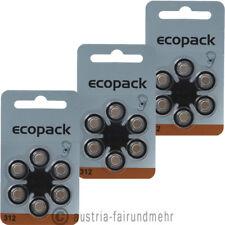 18x ECO-Pack VARTA Hörgeräte-Batterie V 312 PR41 braun