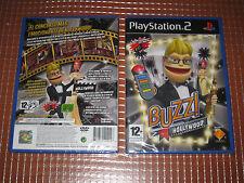 PS2 BUZZ HOLLYWOOD EN ESPAÑOL NUEVO COMPLETO PRECINTADO  PLAYSTATION 2
