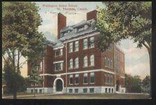Postcard ST THOMAS Ontario/CANADA  Welling Street School Campus Building 1907
