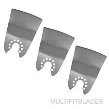 3 x Flush Cut Oscillating Scraper Blade- Old style Porter Cable, FatMax, Bolt-On