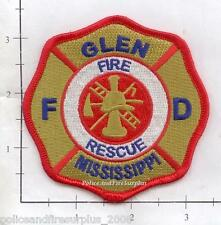 Mississippi - Glen Fire Rescue MS Fire Dept Patch
