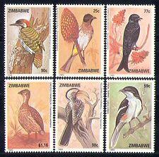 Zimbabwe 1992 Birds/Nature/Woodpecker/Shrike 6v  n30153