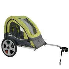 Single Bicycle Trailer Baby Infant Toddler Kid Trailer For Bicycle Green