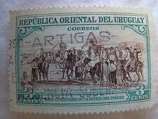 Uruguay Stamp 1952 Scott 589 A170  Artigas 3 Cent