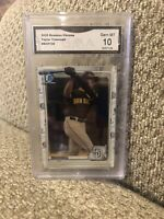 2020 Bowman Chrome #BCP-130 Taylor Trammell  Rookie Graded 10